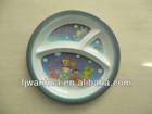 Kids plastic divided dinner plate