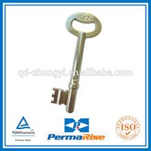zinc alloy inside house key blank