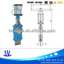 long stem flat gate valve