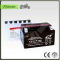 Venta caliente seco cargado de gel de motor eléctrico de la batería ytx7a- bs( 12v 7ah)