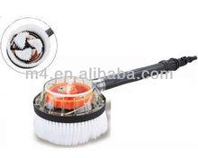 Rotating water flow car brush