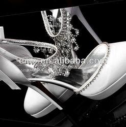 W801,Free shipping custom make 2013 rhinestones beautiful white/ivory bridal ladies wedding shoes