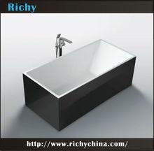 acrylic black bath tub free standing