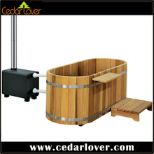 Ofruo soaking wooden outdoor spas hot tubs