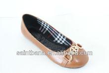 2012 hot sell ladies flat dress shoes