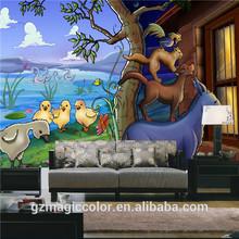 funny animals photo wallpaper murals for nursery school decor
