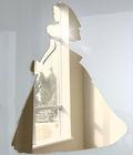 Shatterproof Acrylic Wedding Dress Bride Mirror,reflective plastic mirror sticker for wall decoration
