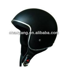 Chrome Color Rubber Line Fiberglass DOT Approved Open Face Helmet