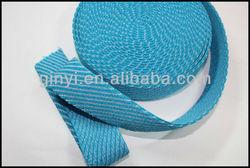 Black polyester bag strap material