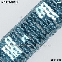 2013 best selling shinning sequin garment accessories trims (YFT-121)