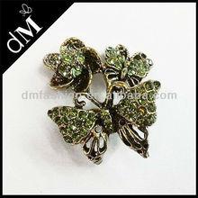 Fashion green rhinestone brooch pins BP0140