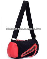 special design bags hit color canvas bucket bag cloth bag