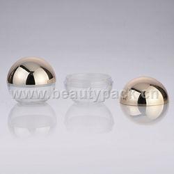 ball/round loose powder cosmetic jar