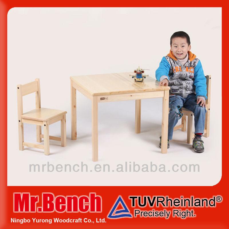 çocuk çalışma masası sandalyesi çam ağacı, set bir tablo iki sandalye