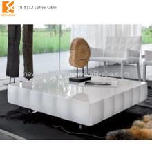 Longjiang Shunde Newland modern lounge furniture white gloss coffee table (TB-S112)