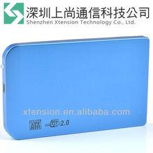 "New USB 2.0 2.5"" SATA Hard Disk Drive HDD Enclosure Case Blue"