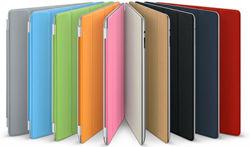 2013 stylish dormancy smart pu cover case for ipad 4 many colors