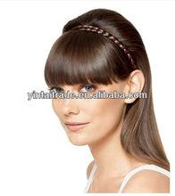 Cheap new human hair wigs extension real bang/fringe,human hair braid bangs