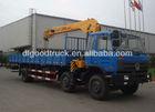 Dongfeng 6x2 truck mounted 10tons telescopic crane