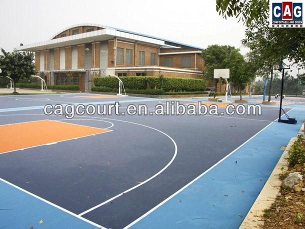 Cag série ouro especificamente projetado removível& multiusos exterior piso de basquetebol