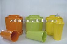 glazed ceramic flower pot