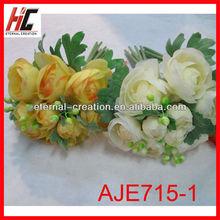Artificial lotus flowers bush wholesale wedding flower