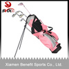 Ladies designer golf stand bag with pink color