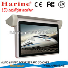 18.5 inch car flip down monitor with AV, VGA HDMI input