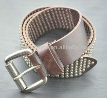 Fashion Imported Genuine Leather Men Belts full grain leather Studded Belts Rivets belt for men