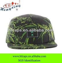 100% cotton palm tree fabric camper custom 5 panel flat brim cap