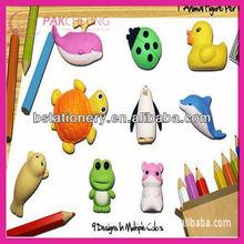 3d animal shaped mini erasers