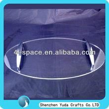 Oval Acrylic Serving Tray Plastic Tray