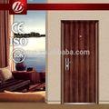 grano de madera puerta de acero de alta calidad hdf chapa de madera mdf de la puerta de la piel