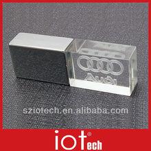 New Inside Engrave Logo Glass USB Flash Drive
