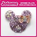 Precioso 48mm cabeza de ratón de diamante de imitación broche& colgante