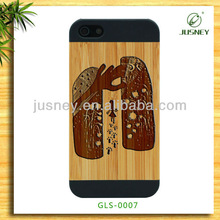 New England design wood bamboo case for iphone 5