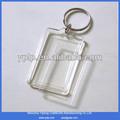 De haute qualité souvenirsd'affaires vierge. photo acrylique trousseau trousseau de clés en plastique