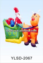cute giant inflatable deer , air blown pop up inflatable Christmas product/inflatable air blown christmas santa claus