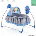 Canopy com brinquedos do bebê elétrica cama balanço