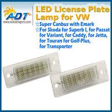 Chinese supplier!Canbus License Plate LED for Passat B5 B6 number plate led light for bmw for audi for VW for mazda for skoda et