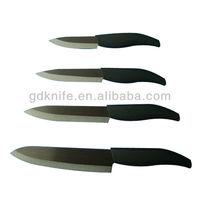 high quality pp handle black ceramic knife set/porcelain knife