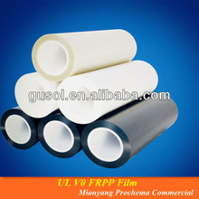 Black Insulation/shielding UL V0 flame retardant polypropylene film/sheet FRPP Film for TV