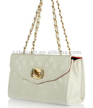 stone decorated flap lock lady handbag