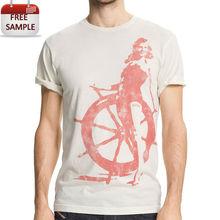 100 cotton trim fitting printing graphic vintage cotton t shirt