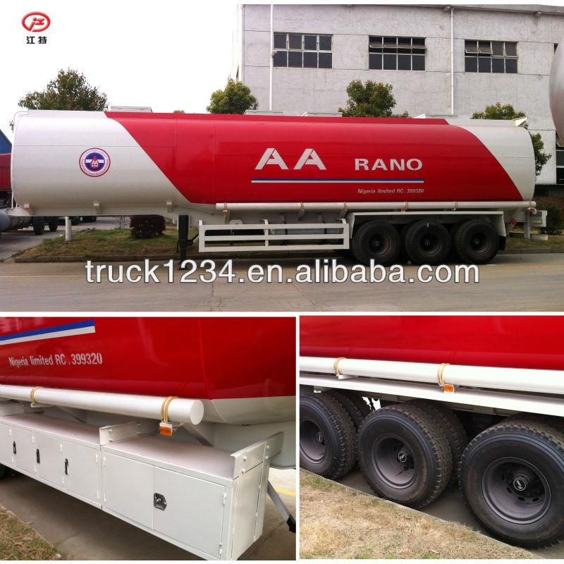 China Best 50000Litres Oil / Fuel Tanker Semi Trailer