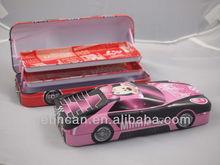 car-shaped metal tin pencil box for student usage