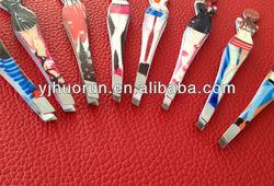 stainless steel tweezers eyebrow tweezers