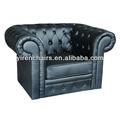 suave línea de sofás de cuero chesterfield