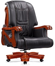 2014 new luxurious massage office chair swivel wooden base