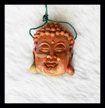 Carved Multi-color Picasso Jasper Buddha Head Pendant Bead,Gemstone Bead,Natural Stone
